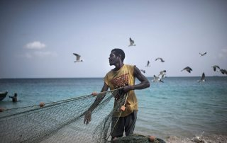 A fisherman in Grenada