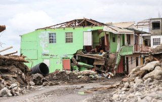 Photo: A house destroyed by Hurricane Irma in Loubiere, about 15 minutes' drive from Roseau, capital of Dominica.