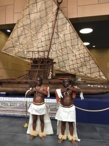 PHOTO: Fijian warriors performed a ceremonial welcome ceremony at the conference opening.