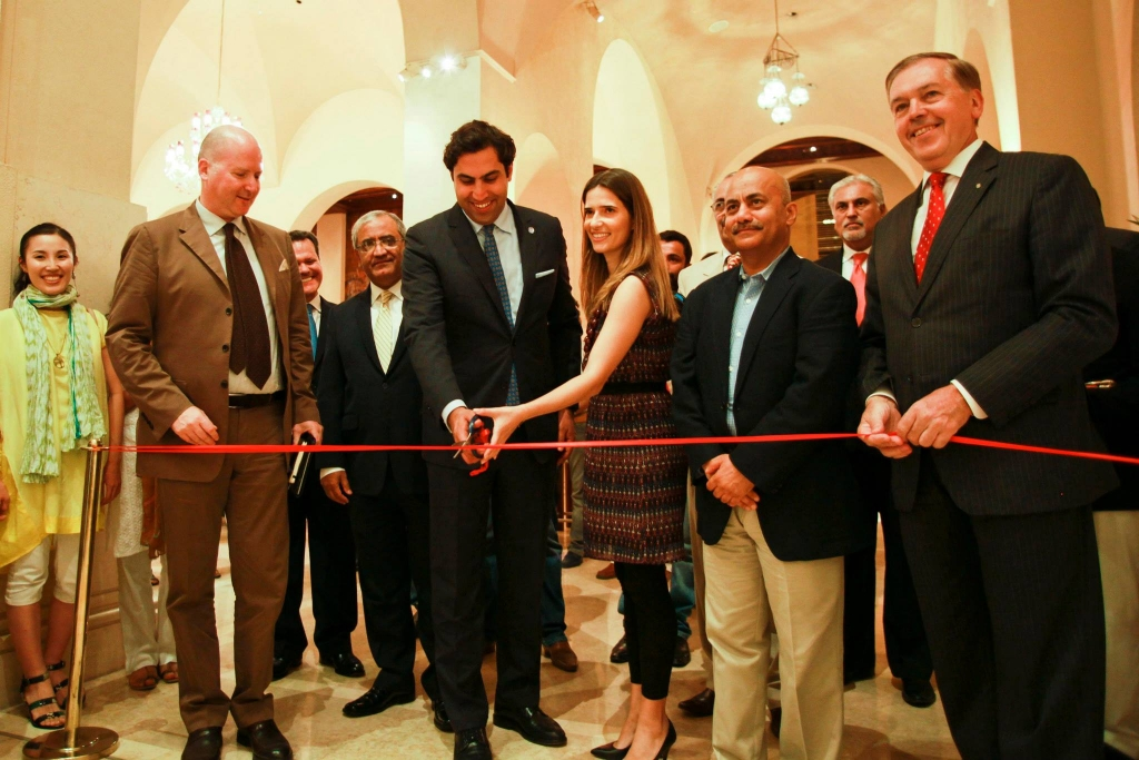 Art exhibit opening. Photo credit: UNICEF/Asad Zaidi