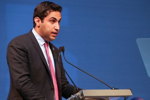UN Envoy on Youth Ahmad Alhendawi delivering his closing remarks