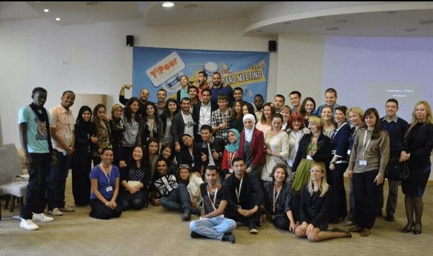 Alhendawi with Y-PEER members