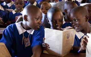 Young Children with Educational Materials