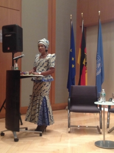 The First Lady of Malawi speaks at the breakfast side event