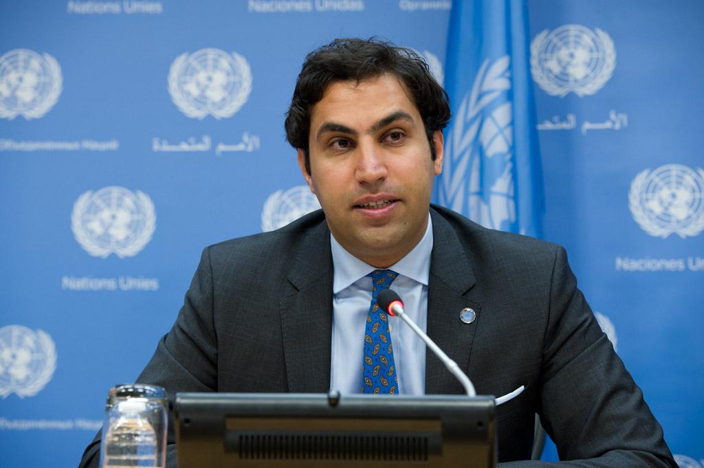 Secretary-General's Envoy on Youth Ahmad Alhendawi. UN Photo/Eskinder Debebe