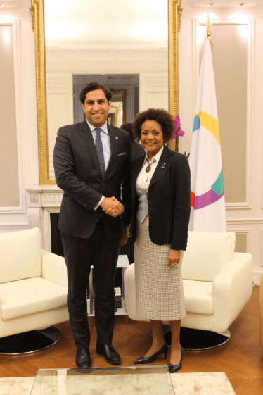 with the Secretary-General of OIF - la Francophonie