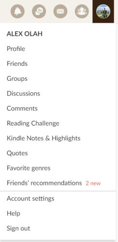 goodreads perfil