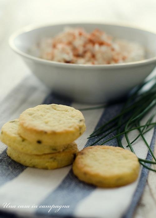 Biscottini dolci salati con il Liptauer