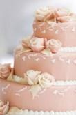 Torta elegante a tre piani con rose
