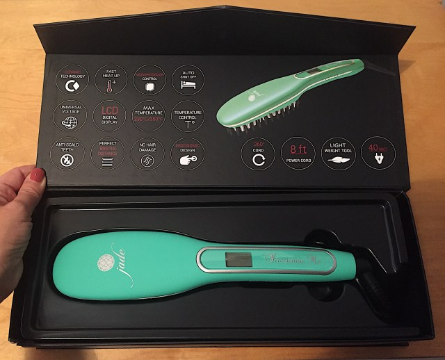packaging jade hair straightening brush