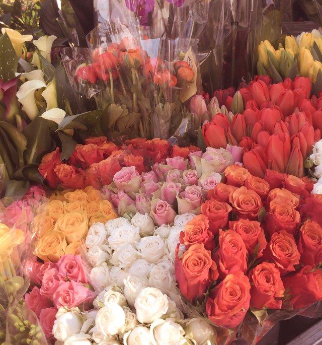 Foro fiori in bancarella di Unadonnaalcontrario