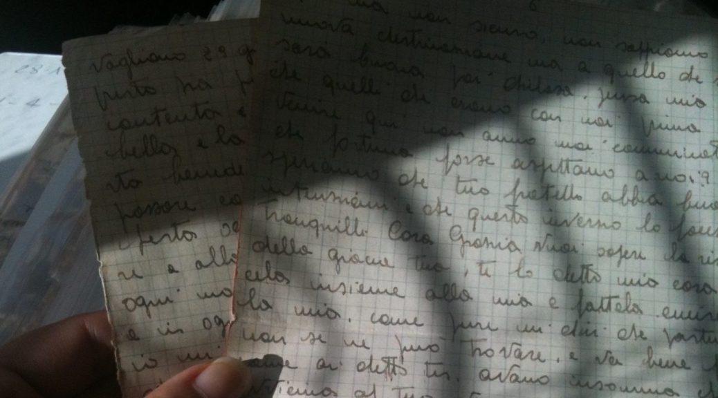 Lettere dal fronte dei nonni