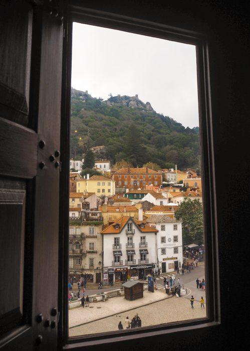 Vista di Sintra dall'interno del Palacio Nacional