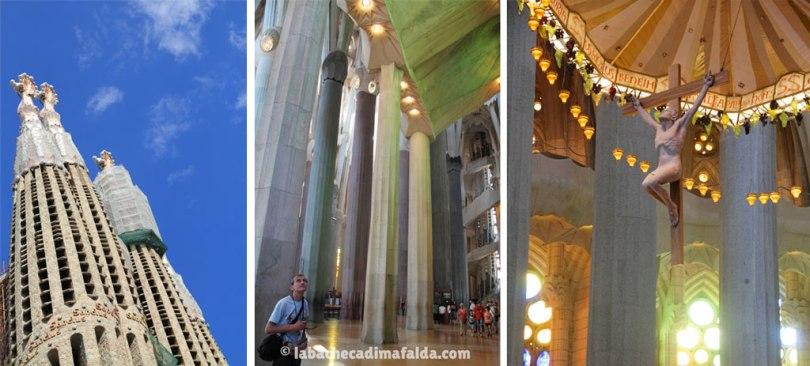 Barcellona: interni e torri della Sagrada Familia.