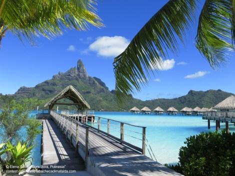 Bora Bora, vista della laguna dal pontile del Meridien - foto di Elena Savio