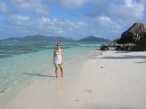 Laura alle Seychelles nel 2011