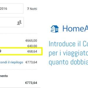 HomeAway e Homelidays news: costo del servizio a carico del viaggiatore