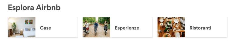 airbnb case esperienze ristoranti