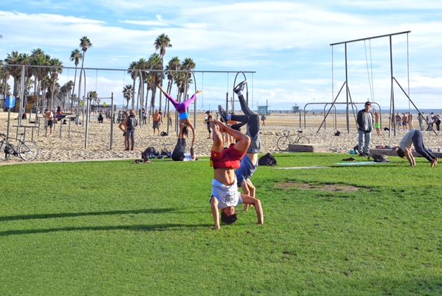 Sport Santa Monica beach
