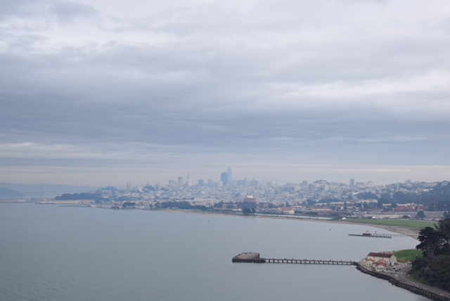 Vista su San Francisco dal Golden Gate