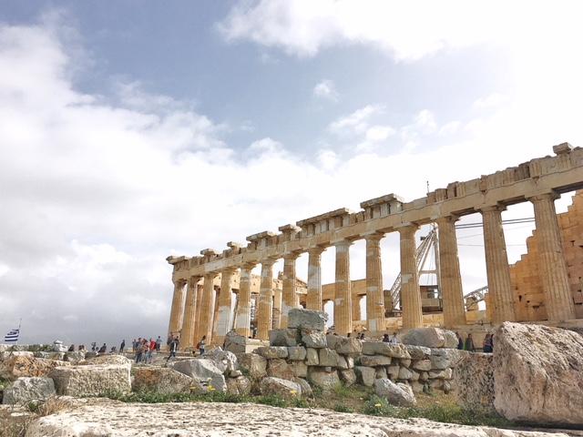 Antico Tempio di Atena Poliàs Acropoli Atene