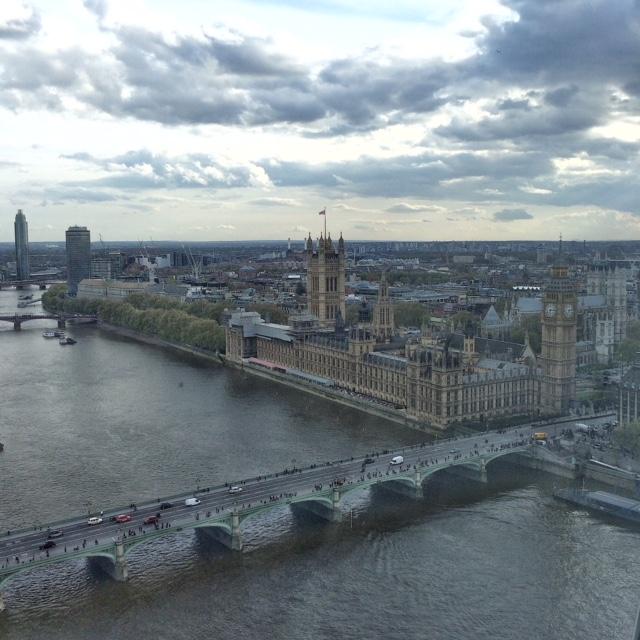 Vista su Westminster Londra