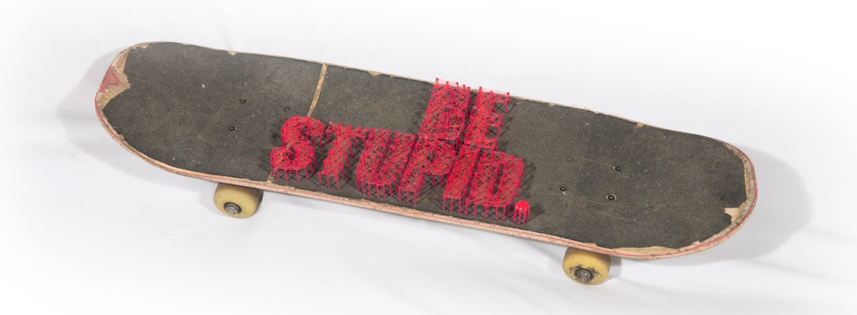 "Skate ""Be stupid"" Parallel Lines"