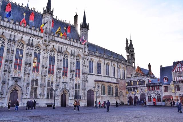 Il Burg e lo Stadhuis Bruges
