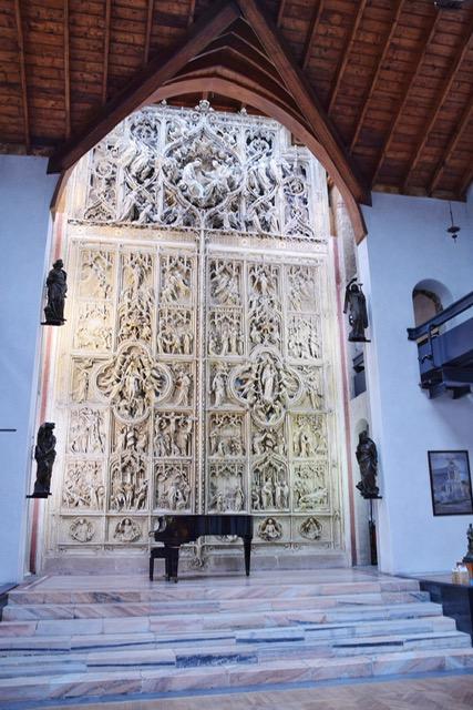 Modello in gesso portale Duomo Milano Pogliaghi