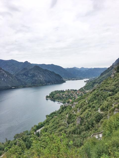Vista dei borghi sul Lago d'Idro da Rocca d'Anfo
