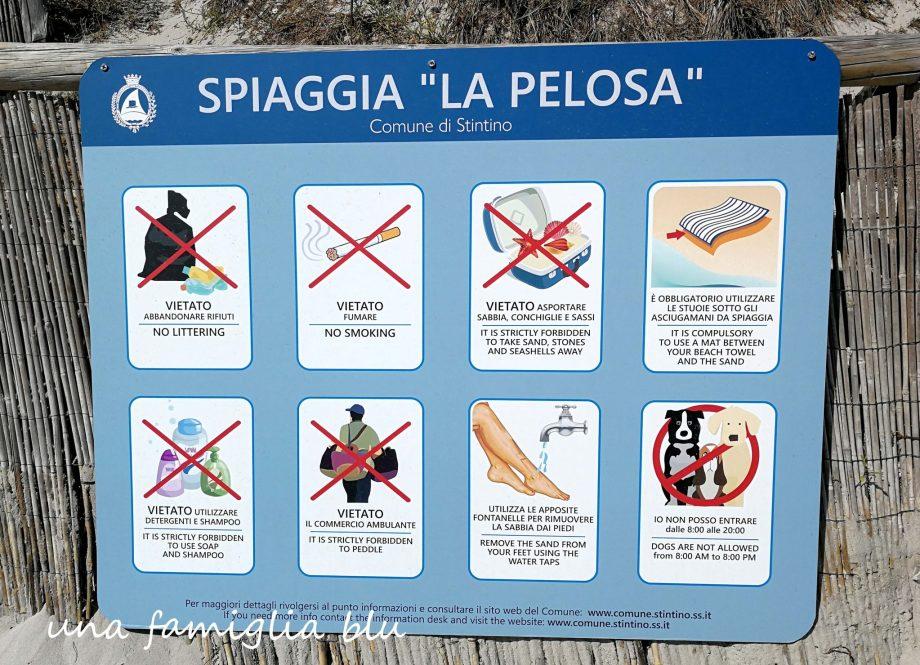 regole spiaggia La Pelosa