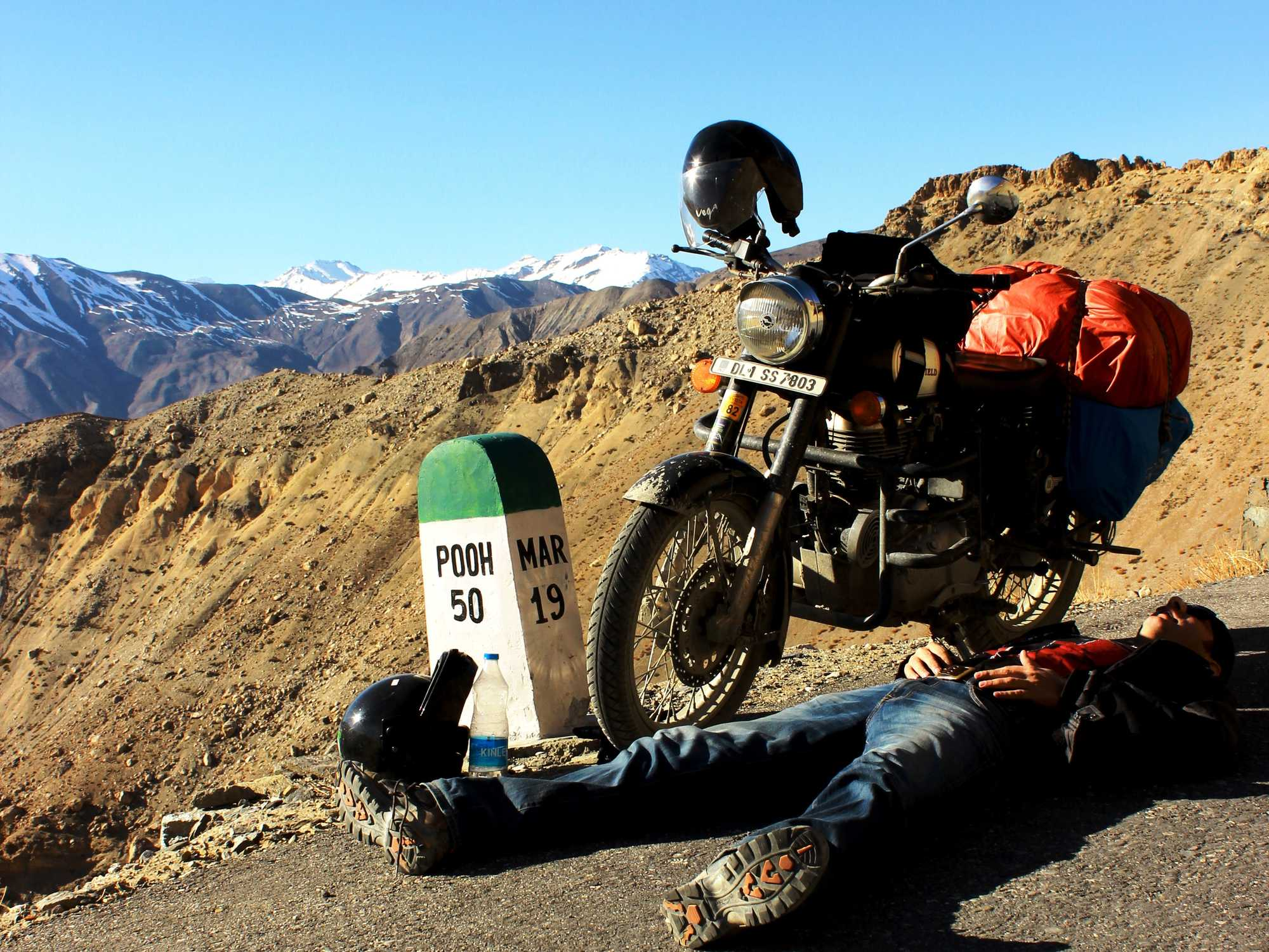 What precautions should I take when motorbiking in India?