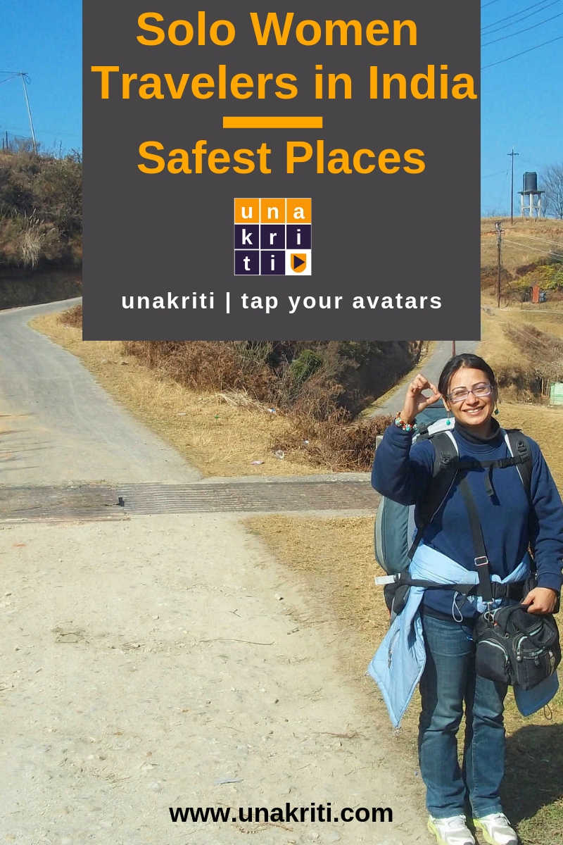Which are some safest places for solo women travelers in India?