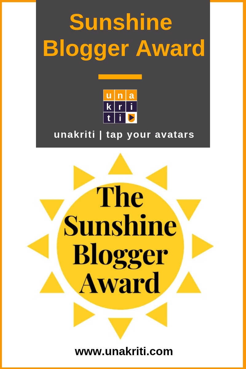 What is Sunshine Blogger Award and how do I get it?