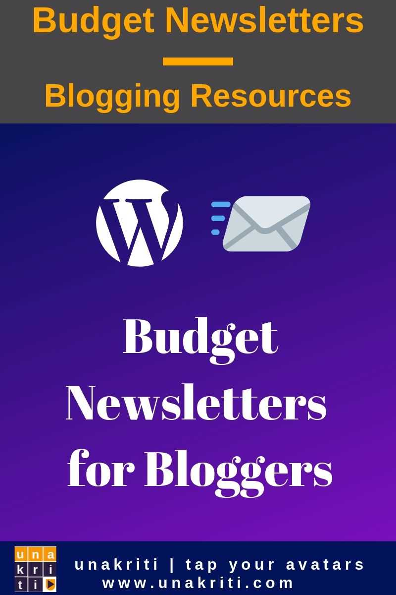 What are budget newsletters options for bloggers?