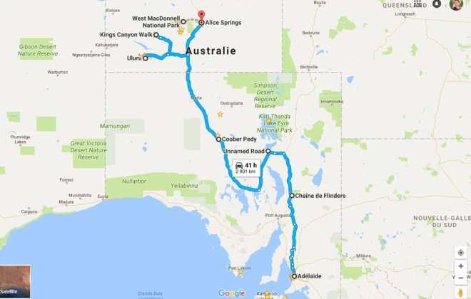 Itinéraire Explorers Way dans l'Australie du Sud