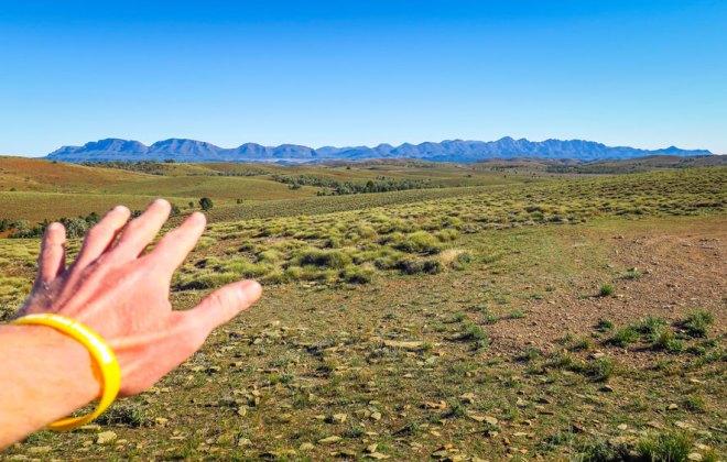 Flinders Range depuis le Hucks Lookout