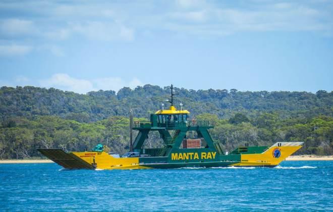 Ferry Manta Ray pour Fraser Island