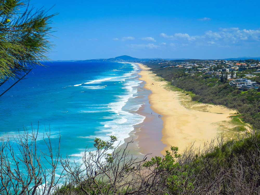 Sunshine Beach depuis le parc national de Noosa