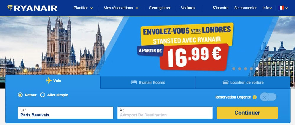 Compagnie Low-Cost - Ryan Air