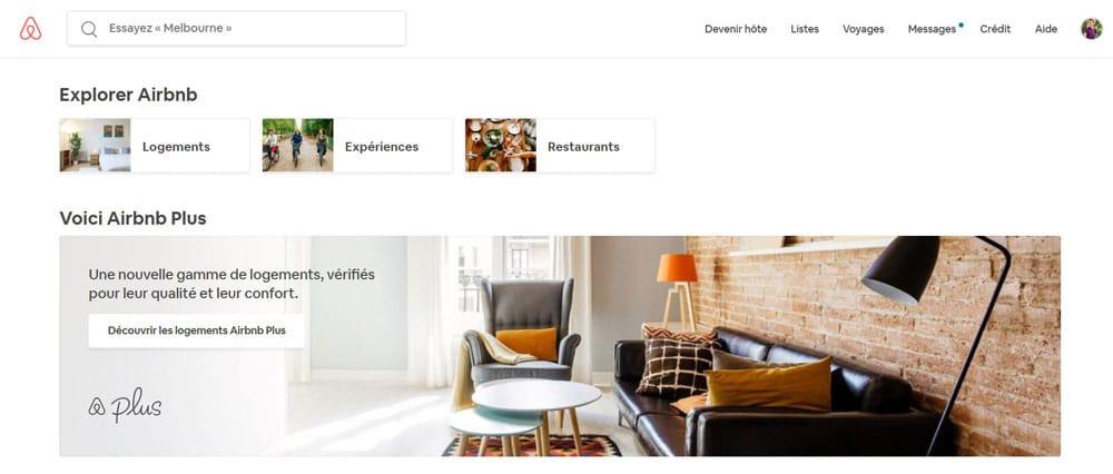 Site Airbnb Accueil - Code Promo