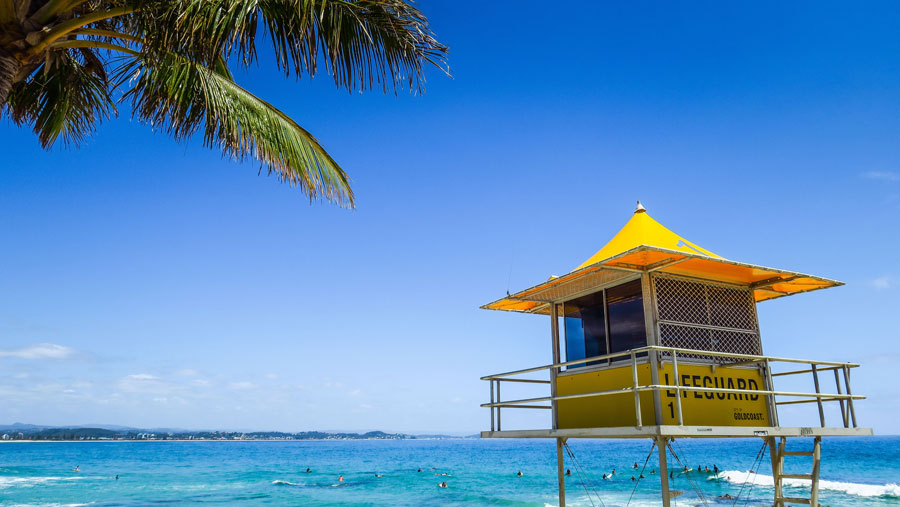 On ne se croirait pas à Miami avec ces palmiers et ces cabines de sauvetages ?