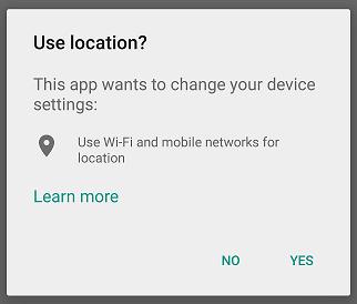 location dialog