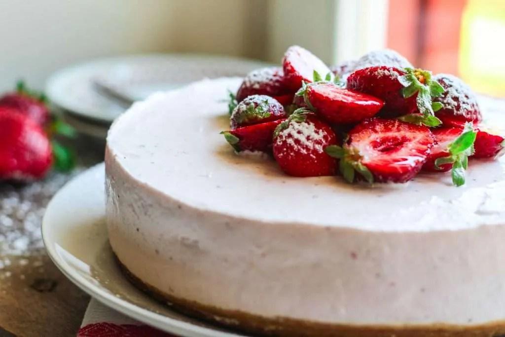 cheesecake fragola nobake