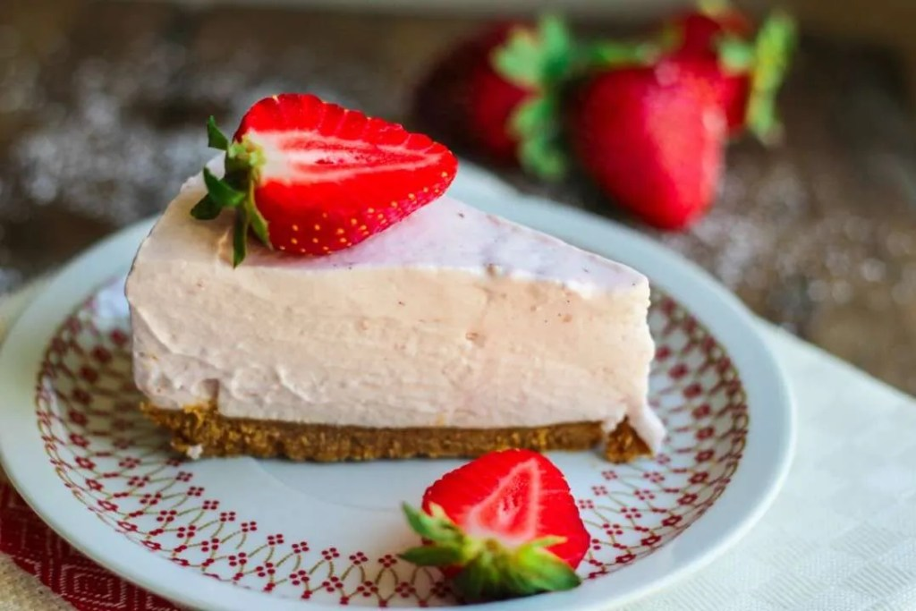 strawberry nobake cheesecake