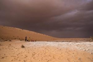 Campo de investigación en sitio inhóspito: Reconocimiento y mapeo del sitio arqueológico Al Wusta en Arabia Saudita. Foto: Instituto de Max Planck