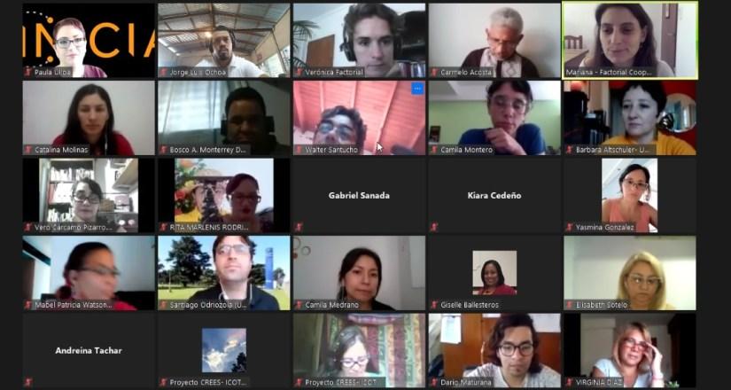 Docentes, estudiantes y académicos del consorcio INICIA comparten experiencias.