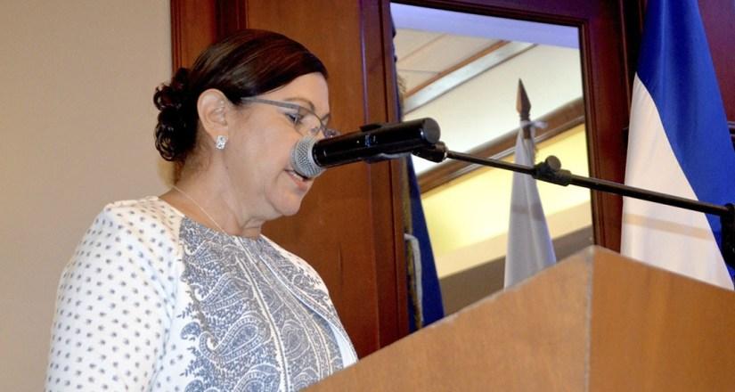 Ramona Rodríguez Pérez, Rectora UNAN Managua y Presidenta del CNU. 28 de marzo 2019
