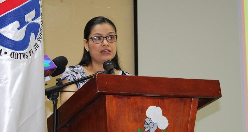 La Dra. Dayra Blandón Sandino, Vicerrectora de Investigación, Posgrado y Extensión Universitaria