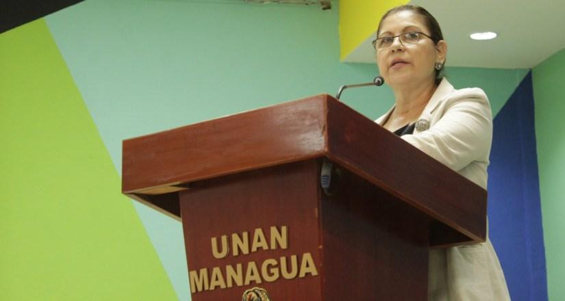 Maestra Ramona Rodríguez, Rectora de la UNAN-Managua y Presidenta del CNU.